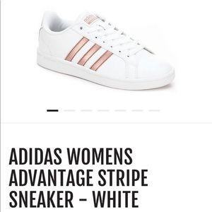 Adidas Advantage Pink Stripe Cloudfoam Sneaker